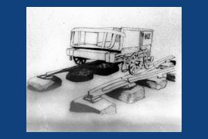 Drawing of wagon on the Surrey Iron Railway