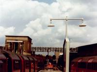 Morden Underground Station platform, looking North