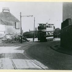 Tram passing the Albion Inn