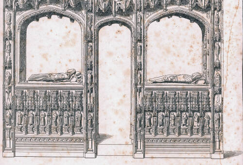 Monumental screen in Paignton Church, 1822, Paignton