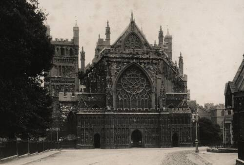 West front ofExeter Cathedral, c1930, Exeter