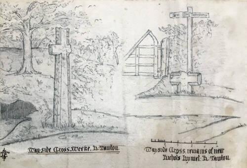 Wayside Cross remains of near Nichols Nymet, North Tawton