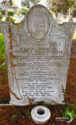 Gravestone of William Louis Schermuly