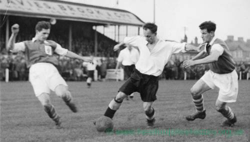 Hereford United action at Edgar Street, 1960s.