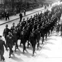Bootle Police in a Civic Procession to St Mary's Church for a thanksgiving service