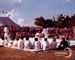 Judo display at the Merton Show, Morden Park