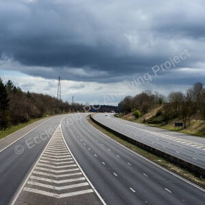 Empty M1 between junctions 35a and 36 during the Covid-19 pandemic
