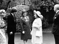 Councillor Bonner greets Her Majesty the Queen Mother