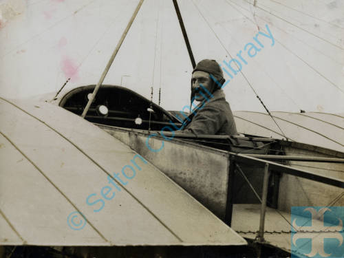 Henry Melly in is Gnome-Bleriot aeroplane  1911