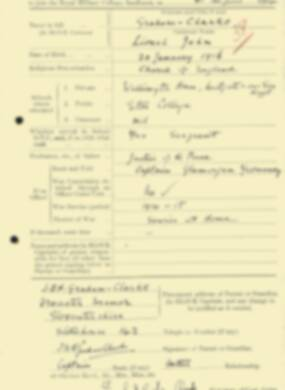 RMC Form 18A Personal Detail Sheets Aug 1934 Intake - page 80