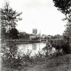 Cathedral and Wye from Bartonsham