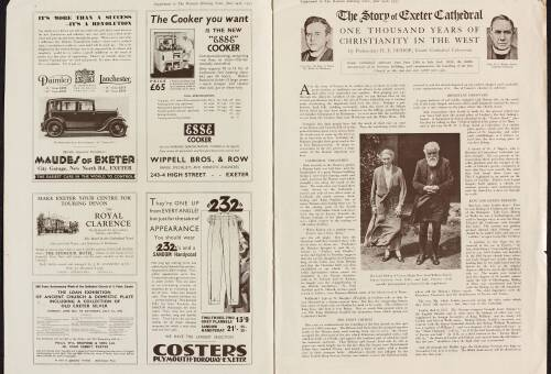 Western Morning News supplement, June 24th 1933, pages 2 & 3