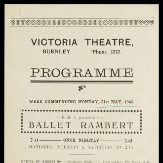 Victoria Theatre, Burnley, May 1943