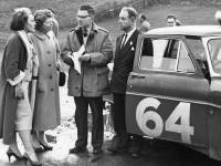 Colin Sproxton with his co-driver and Monte Carlo rally car