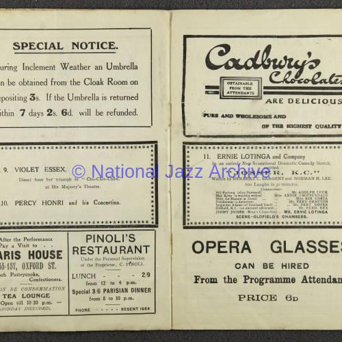 Original Dixieland Jazz Band, London Palladium. 1919 005