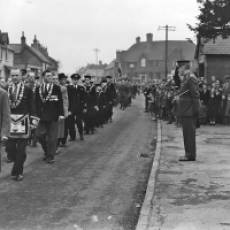 1953 Lt Col Dealtry Part Taking the Salute at the Remembrance Day Parade