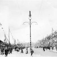 Stanley Road, Bootle, during the Royal Visit of King George V and Queen Mary, 1913