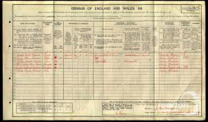 1911 census - 91 Amity Grove, Wimbledon