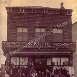 Chapeltown market place, Charles Ellis' shop,
