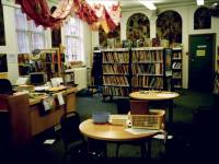 Interior of Wimbledon Library