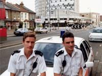 "Filming crime drama ""The Bill,"" London Road, Morden"