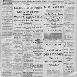 Hereford Journal - 10th January 1914