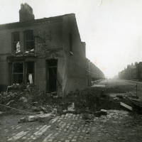 Cambridge Road, bomb damage, Blitz