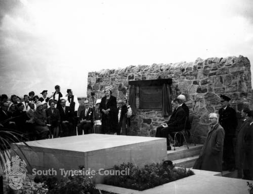 Inauguration of Temple Memorial Park, South Shields