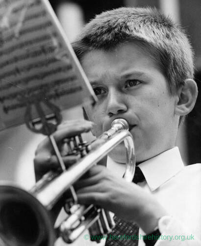 009 - Young boy playing trumpet