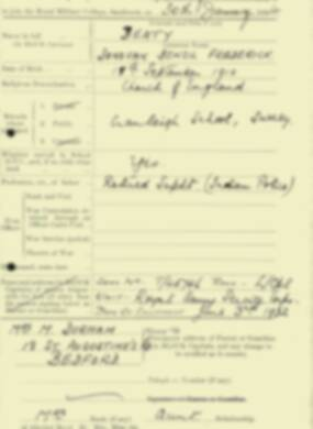 RMC Form 18A Personal Detail Sheets Aug 1934 Intake - page 12
