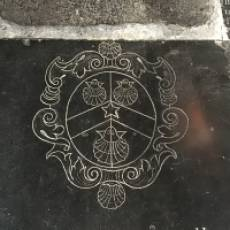Henry Brandreth Coat of Arms on His Tombstone in All Saints Church Houghton Regis