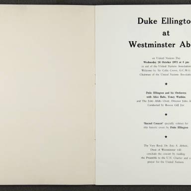 Duke Ellington Orchestra 'Sacred Concert' – Westminster  Abbey 24th   October 1973 005