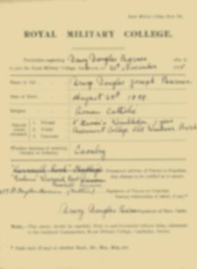 RMC Form 18A Personal Detail Sheets Nov 1915 Intake - page 5