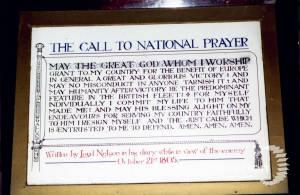 Admiral Nelson's prayer.