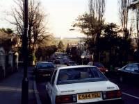 Edge Hill, Wimbledon: Entrance to Darlaston Road on the left
