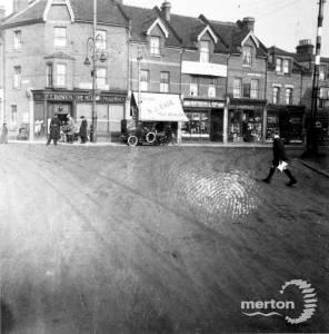 Merton High Street: Corner of Merton Road