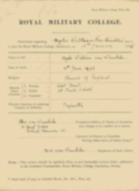 RMC Form 18A Personal Detail Sheets Jan 1915 Intake - page 362