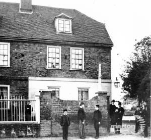 Pupils outside Mitcham Lodge College