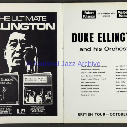 Duke Ellington Orchestra British Tour - October 1971 002
