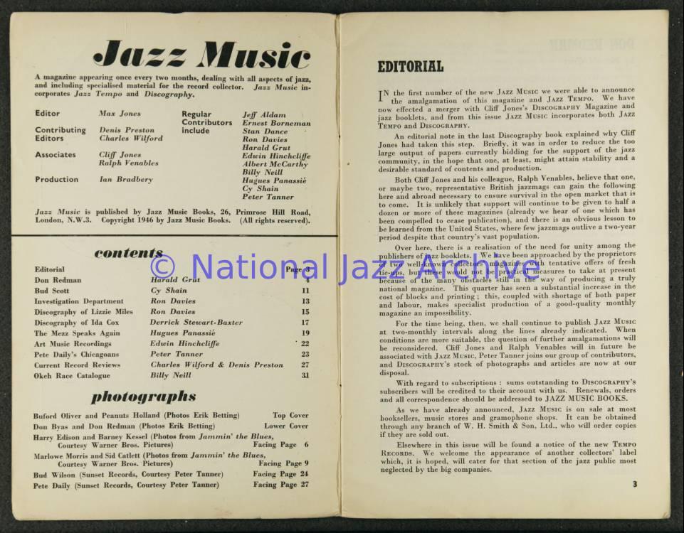 Jazz Music Vol 3 No 3 1946 0001 - National Jazz Archive