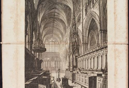 Exeter Cathedral, The Choir, 1820, Exeter
