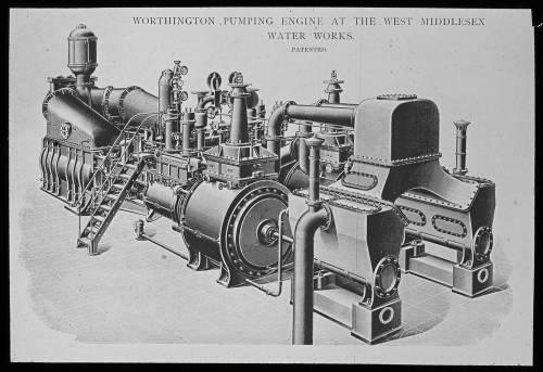 Worthington engine at Hampton drawing