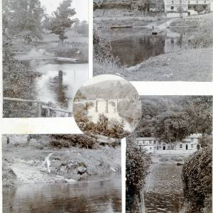 Collage of 5 photographs by Alfred Watkins