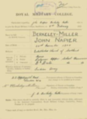 RMC Form 18A Personal Detail Sheets Feb & Sept 1921 Intake - page 11