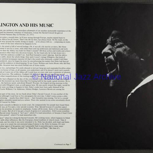Duke Ellington Orchestra British Tour – November 1973 002