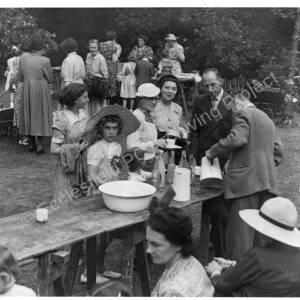 St Marks Church Grenoside, Garden Party at Laurel Cottage c1952