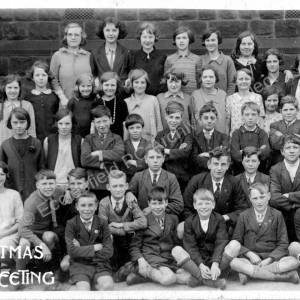Grenoside Junior School  Christmas Class Photo c1920