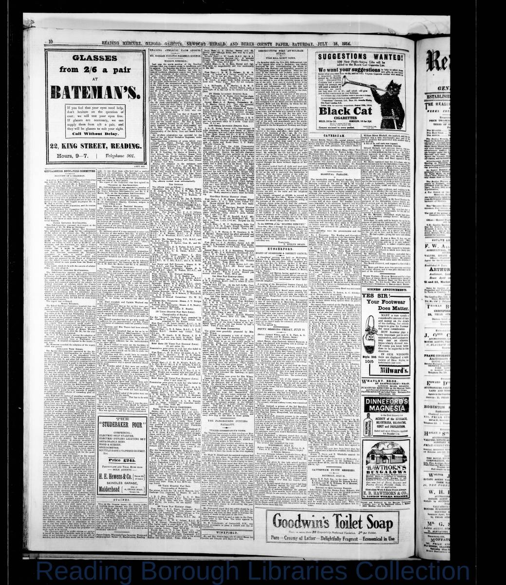 Reading Mercury Oxford Gazette  Saturday, July 18, 1914. Pg 10
