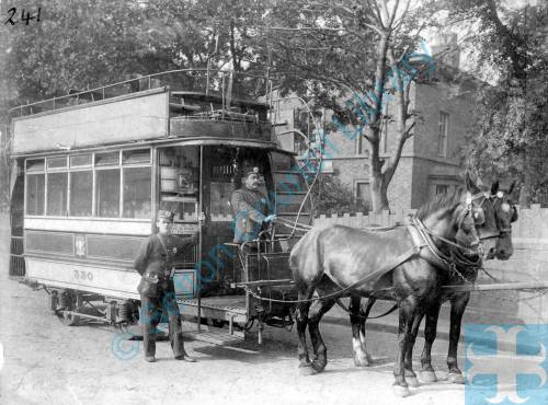 Bootle, horse-drawn tram, 1890s