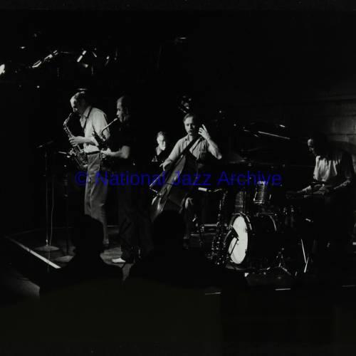 Bruce Turner, John Barnes, Colin Bates, Paul Bridge and Derek Hogg (left to right)